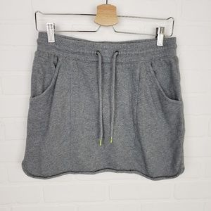 Gap Gray Cotton Drawstring Casual Lounge Skirt